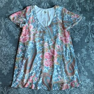 Show Me Your MuMu Dresses - Show Me Your Mumu Kylie Short Sleeve Paisley Dress